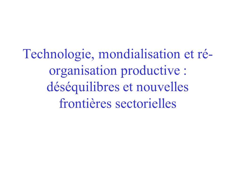 Technologie, mondialisation et ré- organisation productive : déséquilibres et nouvelles frontières sectorielles