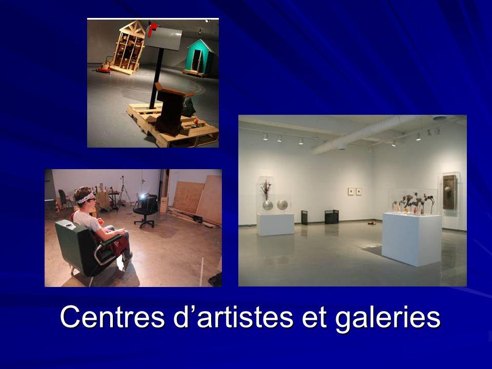 Centres dartistes et galeries