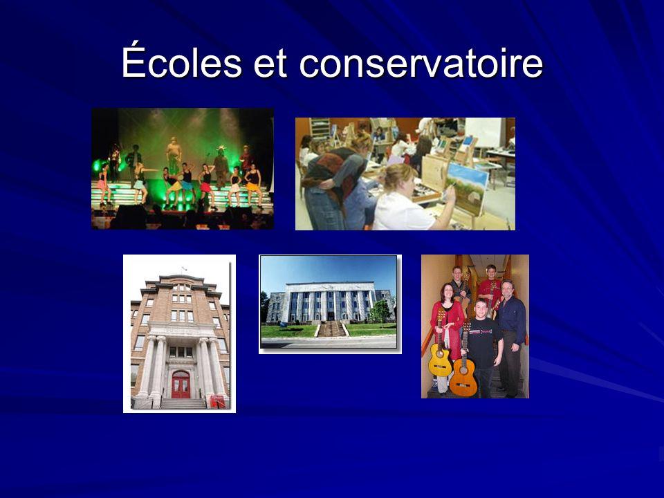 Écoles et conservatoire