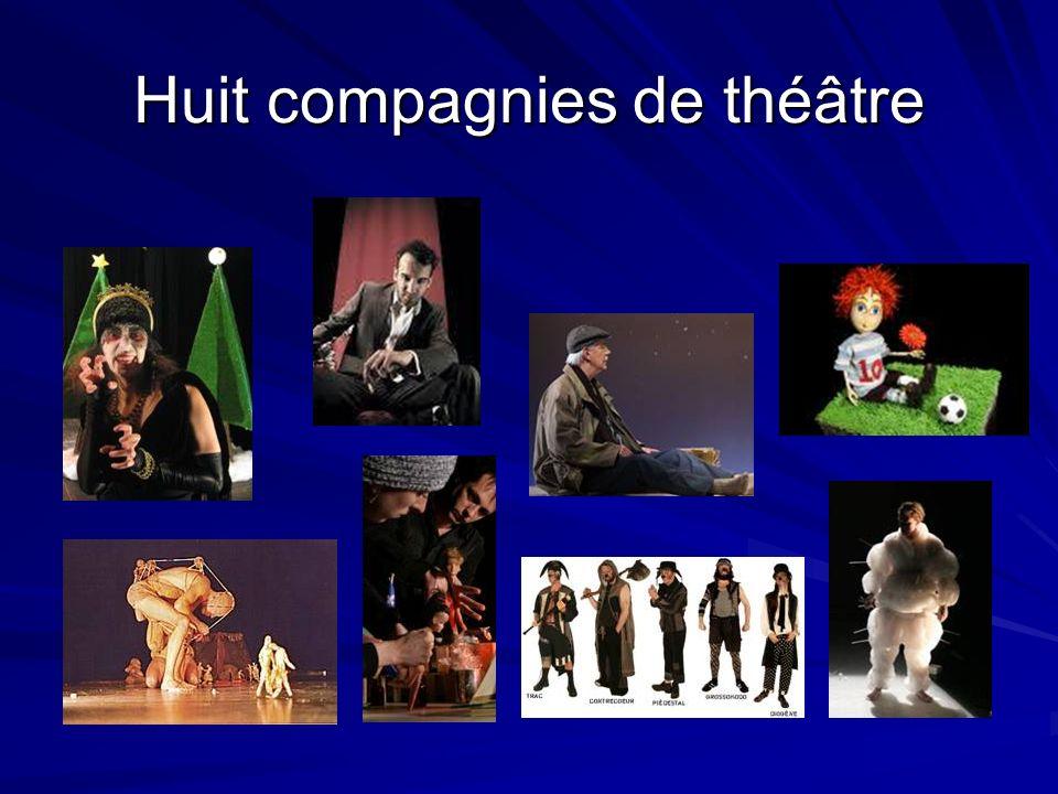 Huit compagnies de théâtre