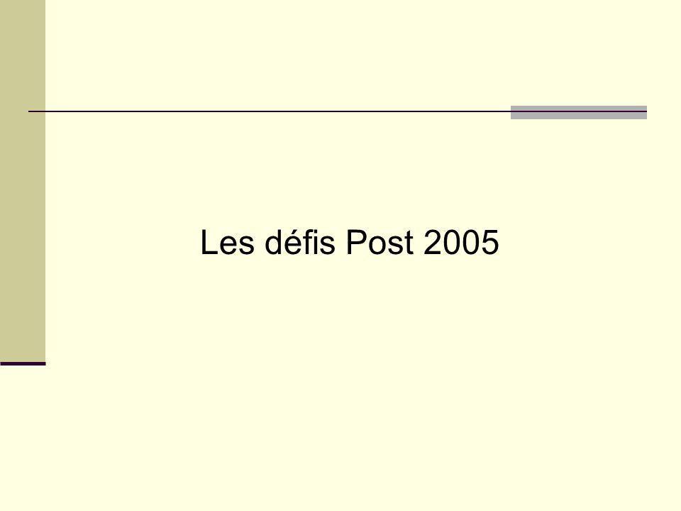 Les défis Post 2005