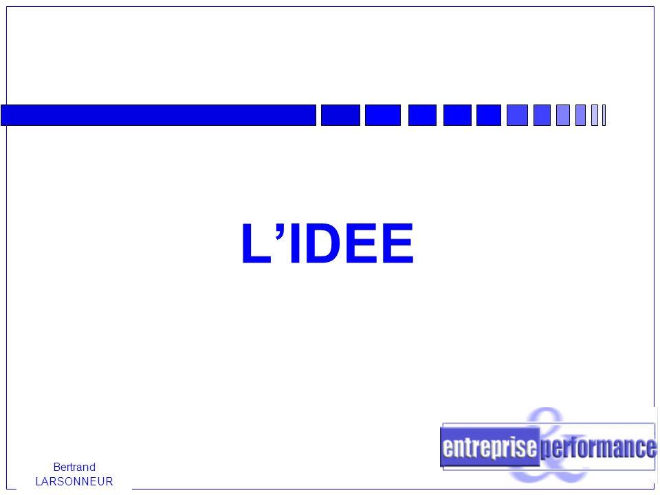 Bertrand LARSONNEUR Définir et valider son idée Quelle que soit son origine, l idée ne représente, au départ, rien de bien concret.