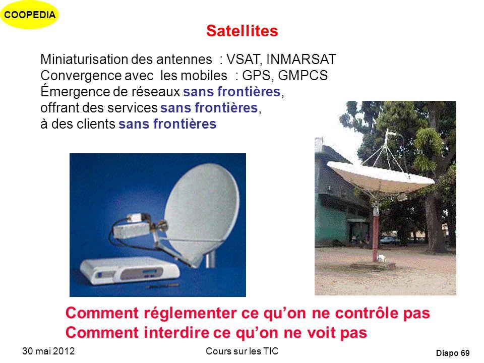 COOPEDIA 30 mai 2012Cours sur les TIC Diapo 68 Dans les pays en développement: Des difficultés pour le réseau fixe…. Encore des structures monopolisti