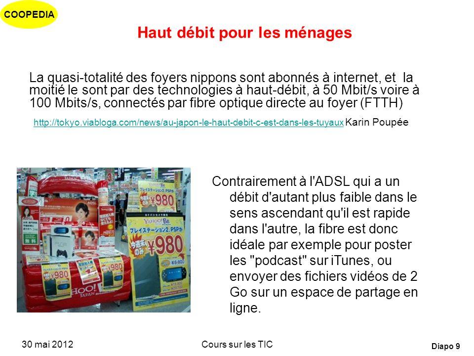 COOPEDIA 30 mai 2012Cours sur les TIC Diapo 8 Canaux de distribution « Commoditisation » des télécommunications Les mobiles et les services Internet à