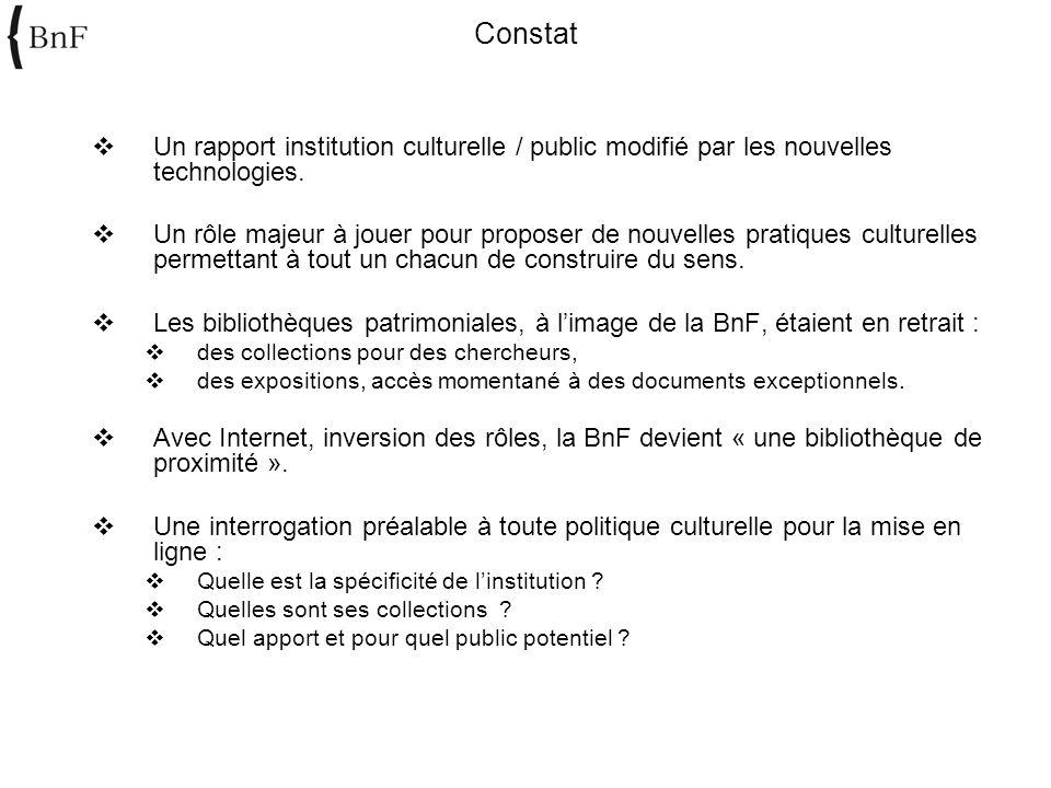 Un rapport institution culturelle / public modifié par les nouvelles technologies. Un rôle majeur à jouer pour proposer de nouvelles pratiques culture