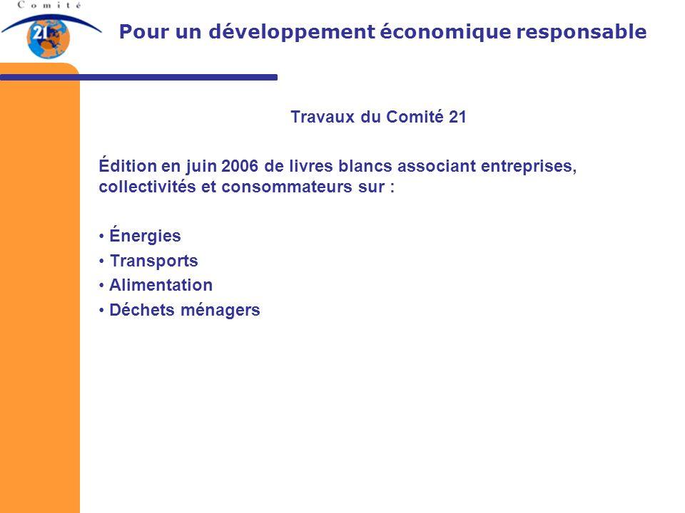 Comité français pour lenvironnement et le développement durable 132 rue de Rivoli 75001 Paris Tel: 01 55 34 75 29 Fax: 01 55 34 75 20 comite21@comite21.org Nicolas BLANC (blanc@comite21.org)blanc@comite21.org