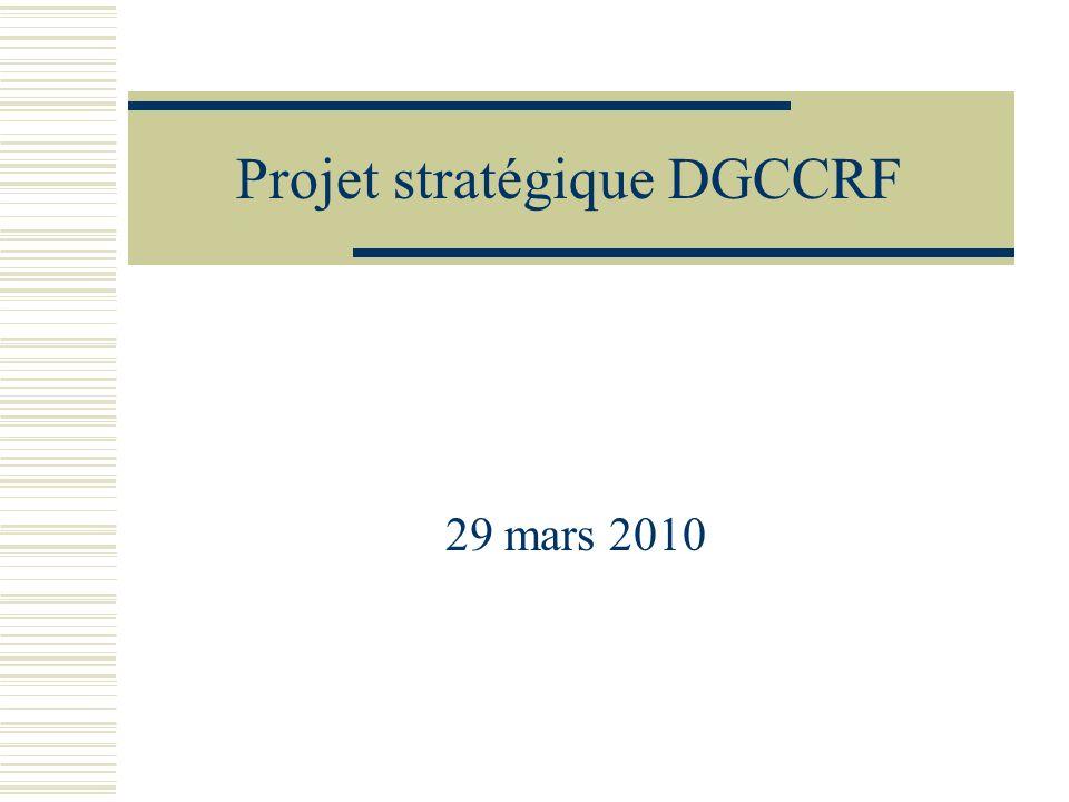 Projet stratégique DGCCRF 29 mars 2010