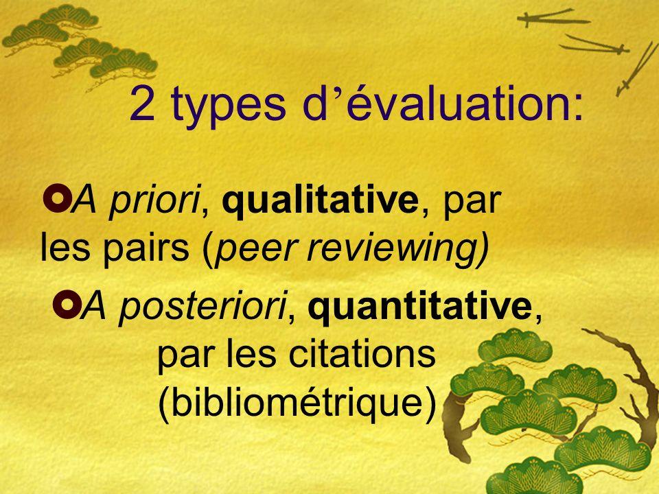 Définition du problème Nécessité de promouvoir des alternatives de type qualitatif par rapport au modèle dominant quantitatif