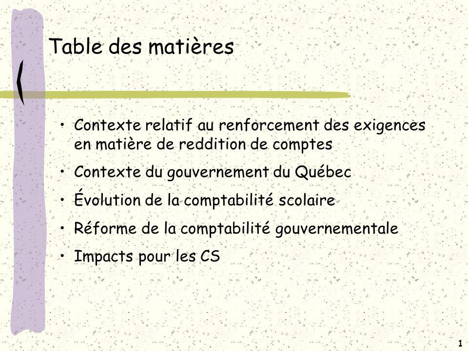 Réforme de la comptabilité gouvernementale 20 février 2008