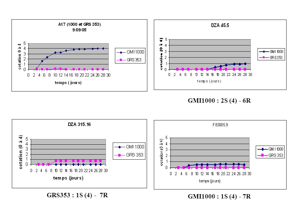 GMI1000 : 3S (4) - 5R (0-1) GMI1000 : 6S (2-4) - 2R (1) GRS353 : 1S (2) - 7R (0-1) GMI1000 : 2S (2-4) - 6R (1) GRS353 : 8R (1)