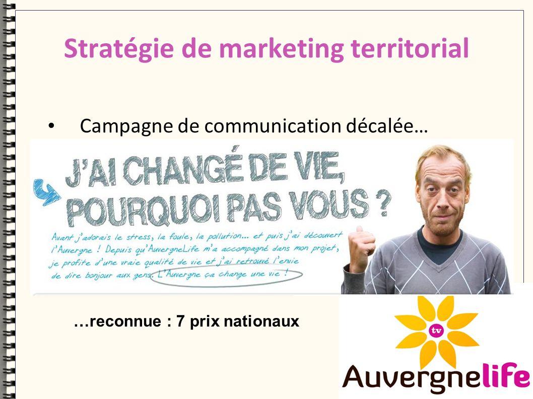 Stratégie de marketing territorial Campagne de communication décalée… …reconnue : 7 prix nationaux