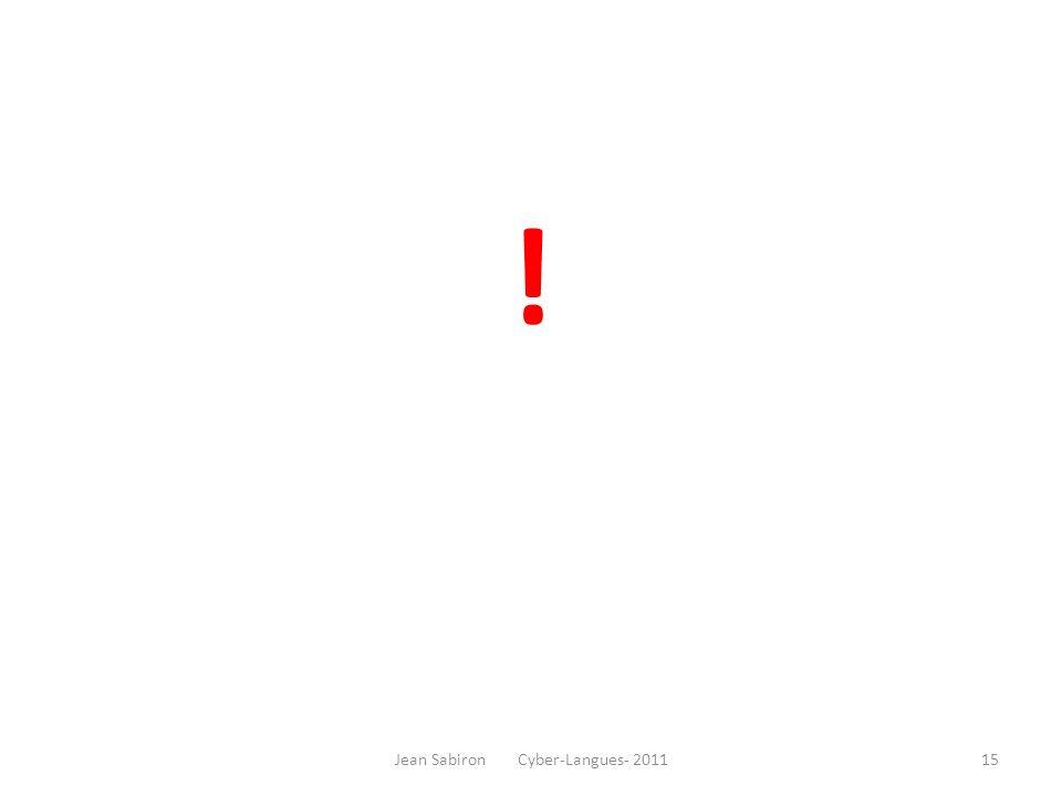 ! Jean Sabiron Cyber-Langues- 201115