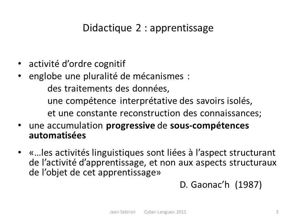 Jean Sabiron Cyber-Langues- 201144