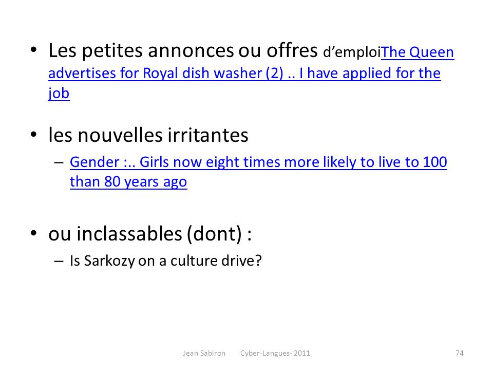 Les petites annonces ou offres demploiThe Queen advertises for Royal dish washer (2).. I have applied for the jobThe Queen advertises for Royal dish w