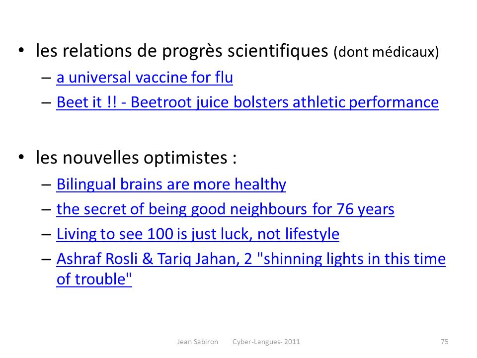 les relations de progrès scientifiques (dont médicaux) – a universal vaccine for flu a universal vaccine for flu – Beet it !! - Beetroot juice bolster