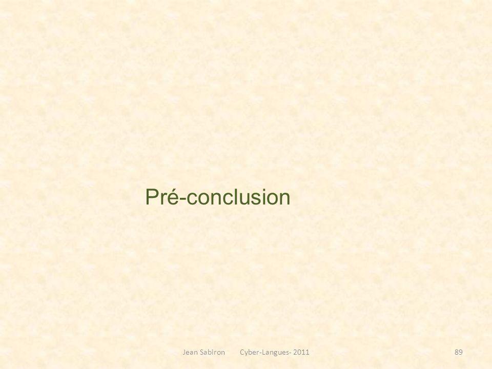 Pré-conclusion Jean Sabiron Cyber-Langues- 201189