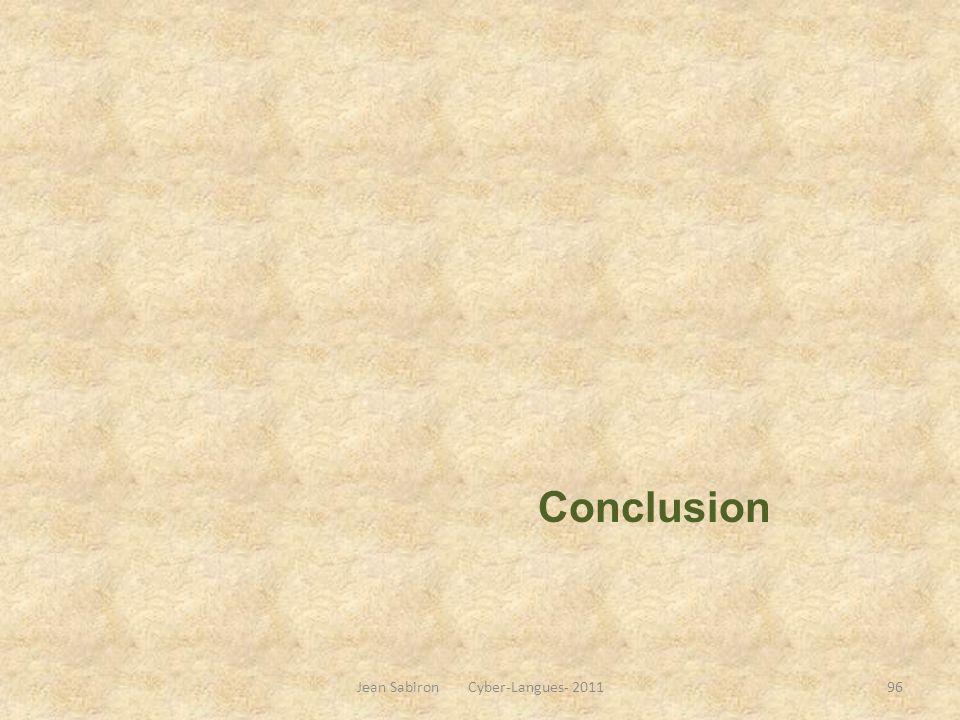 Conclusion Jean Sabiron Cyber-Langues- 201196