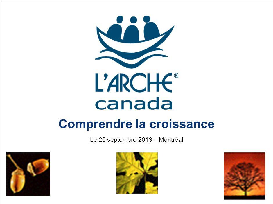 Comprendre la croissance Le 20 septembre 2013 – Montréal