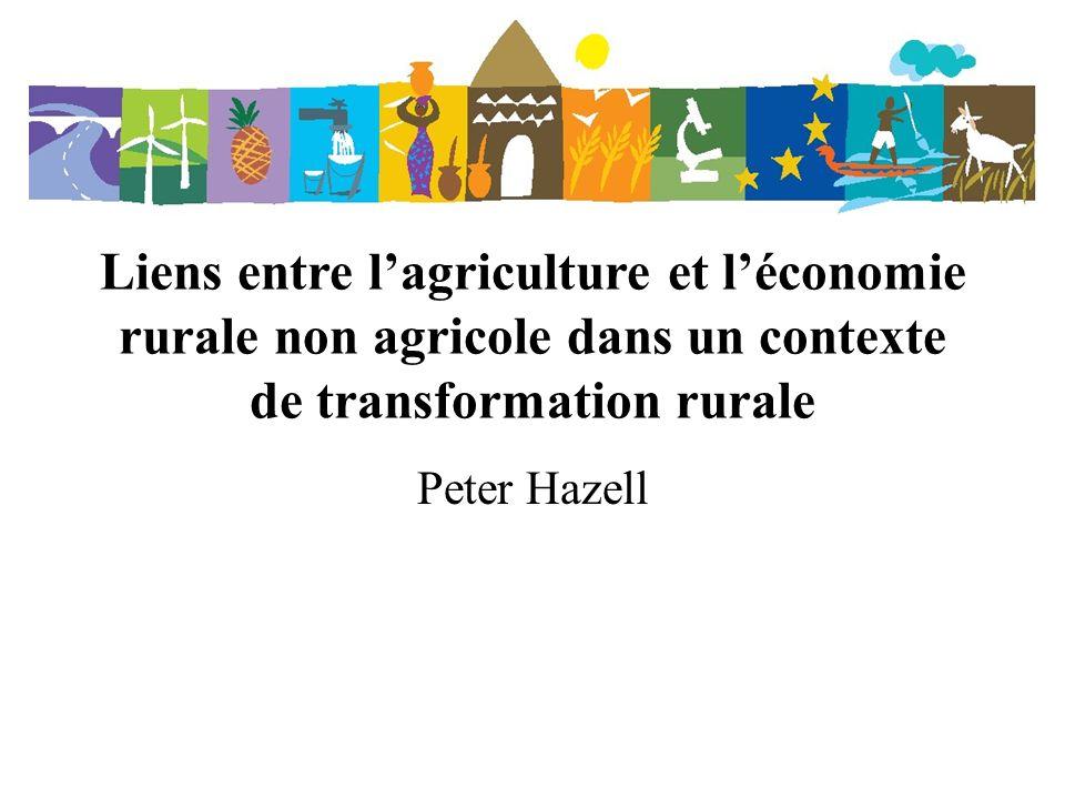 Liens avec la croissance agricole Depuis toujours, l agriculture joue un rôle essentiel dans l expansion de la base économique des régions rurales du monde en développement.