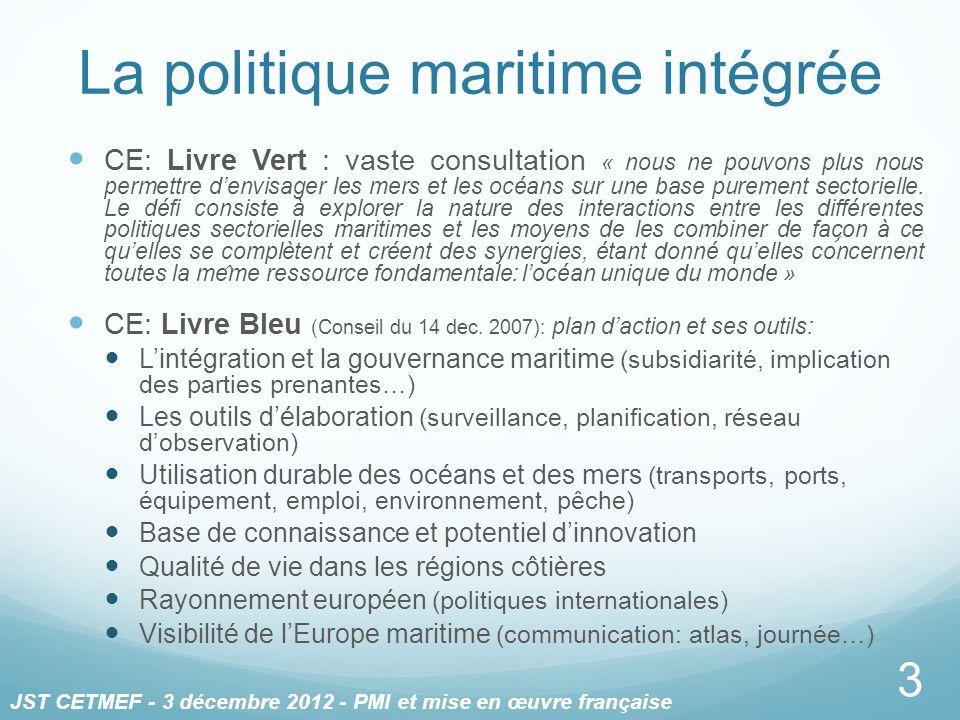 La politique maritime intégrée CE: Livre Vert : vaste consultation « nous ne pouvons plus nous permettre denvisager les mers et les océans sur une ba