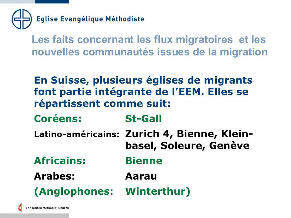 En Suisse, plusieurs églises de migrants font partie intégrante de lEEM.