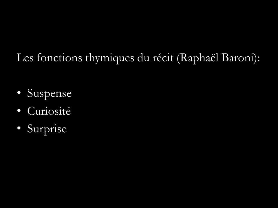 Les fonctions thymiques du récit (Raphaël Baroni): Suspense Curiosité Surprise