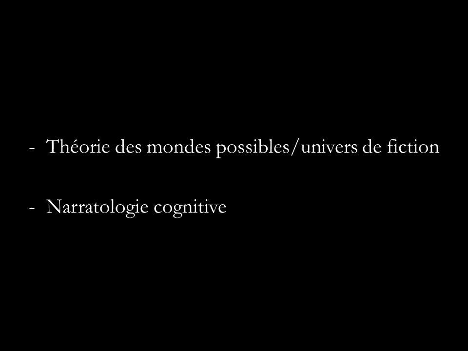 -Théorie des mondes possibles/univers de fiction -Narratologie cognitive