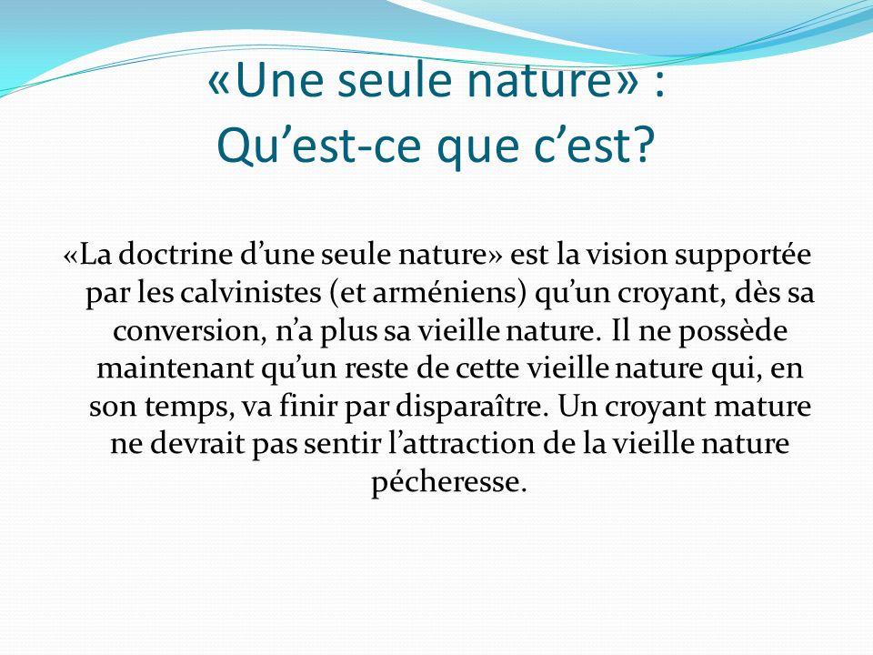 «Une seule nature» : Quest-ce que cest.