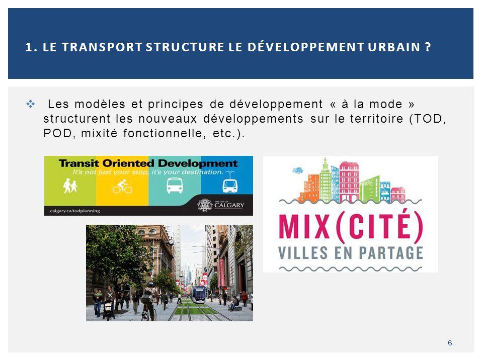 Les réseaux et les services de transport doivent désormais sajuster au visage actuel des métropoles, notamment en fonction de : la localisation des ménages (ex.