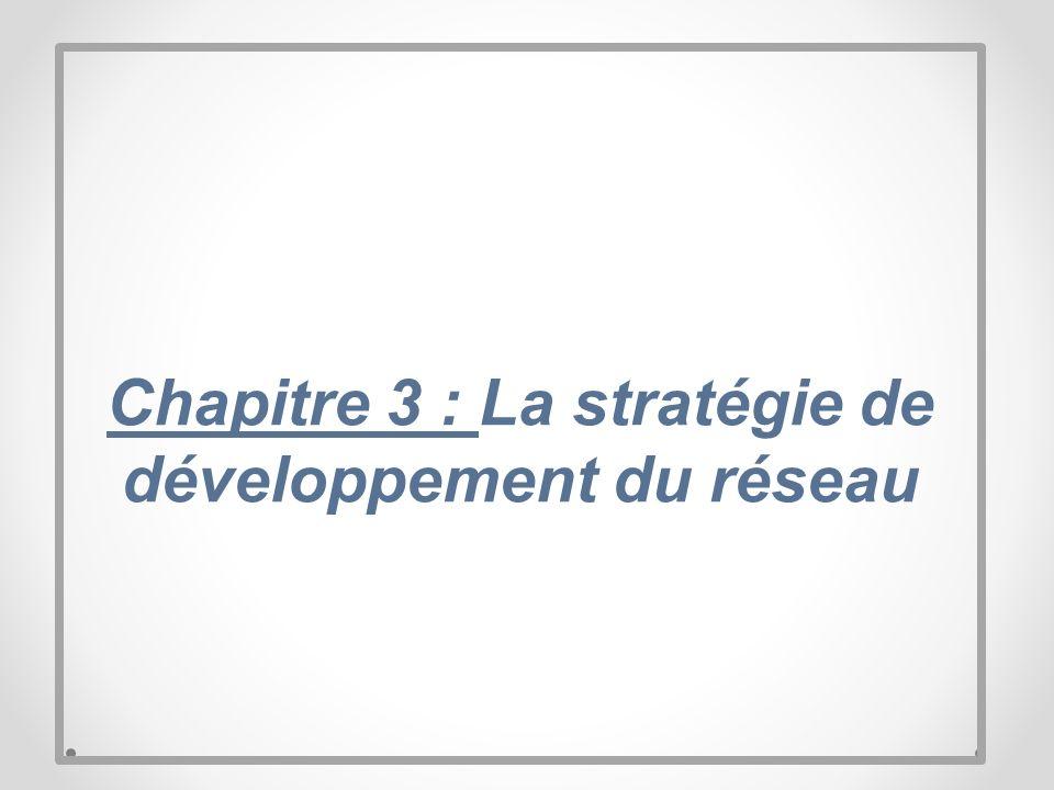 Chapitre 3 : La stratégie de développement du réseau