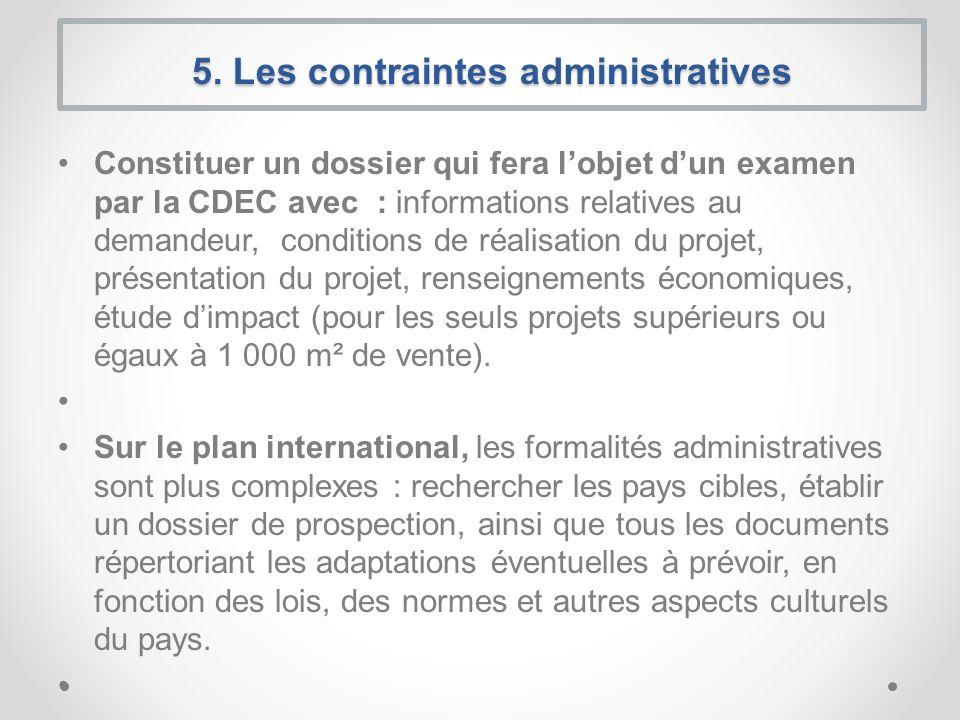 Constituer un dossier qui fera lobjet dun examen par la CDEC avec : informations relatives au demandeur, conditions de réalisation du projet, présenta