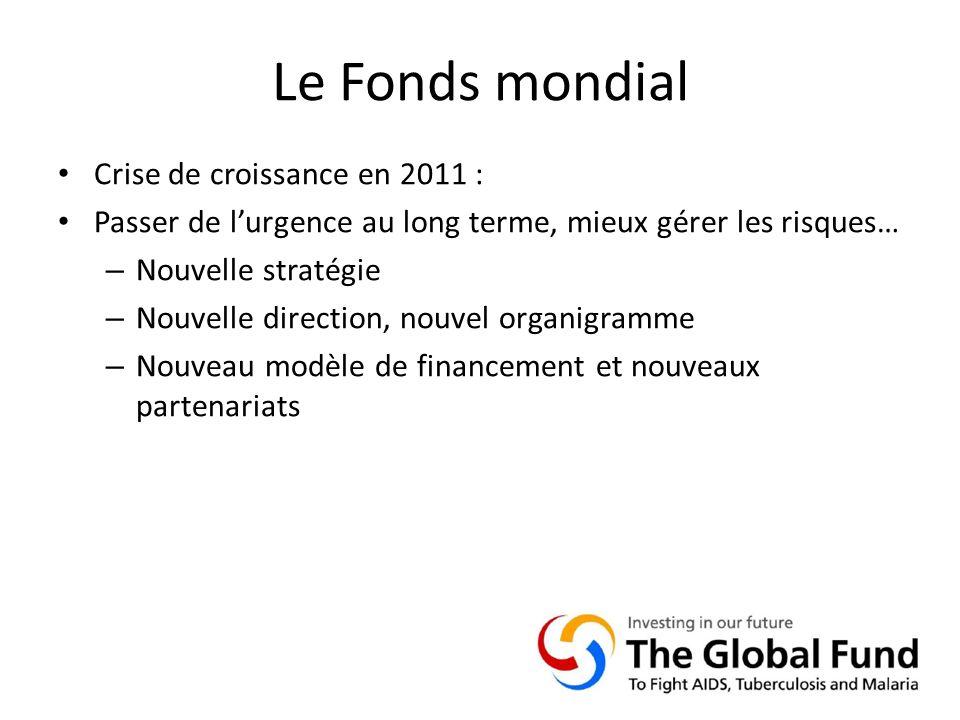 Le Fonds mondial Crise de croissance en 2011 : Passer de lurgence au long terme, mieux gérer les risques… – Nouvelle stratégie – Nouvelle direction, nouvel organigramme – Nouveau modèle de financement et nouveaux partenariats