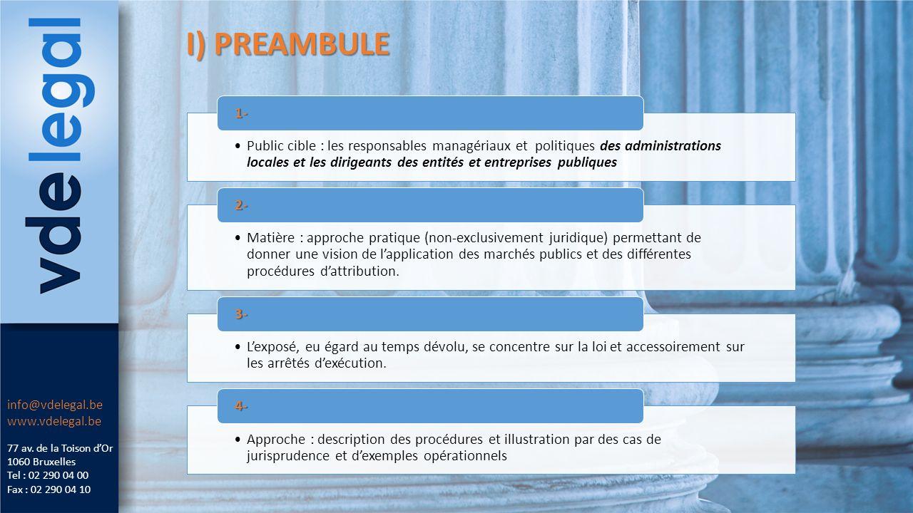 I) PREAMBULE 77 av.