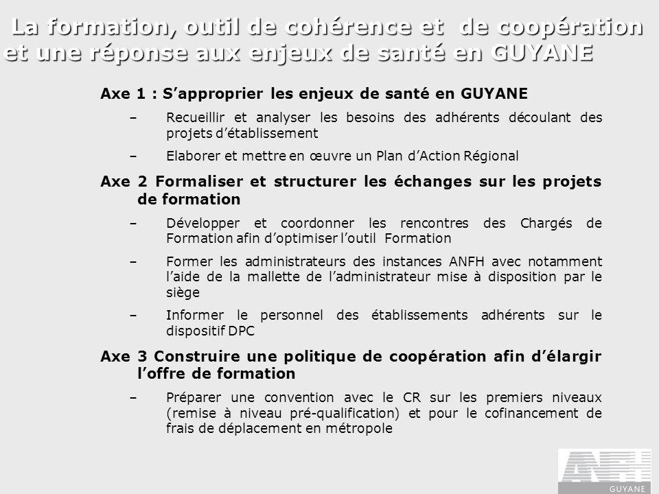 La formation, outil de cohérence et de coopération et une réponse aux enjeux de santé en GUYANE La formation, outil de cohérence et de coopération et