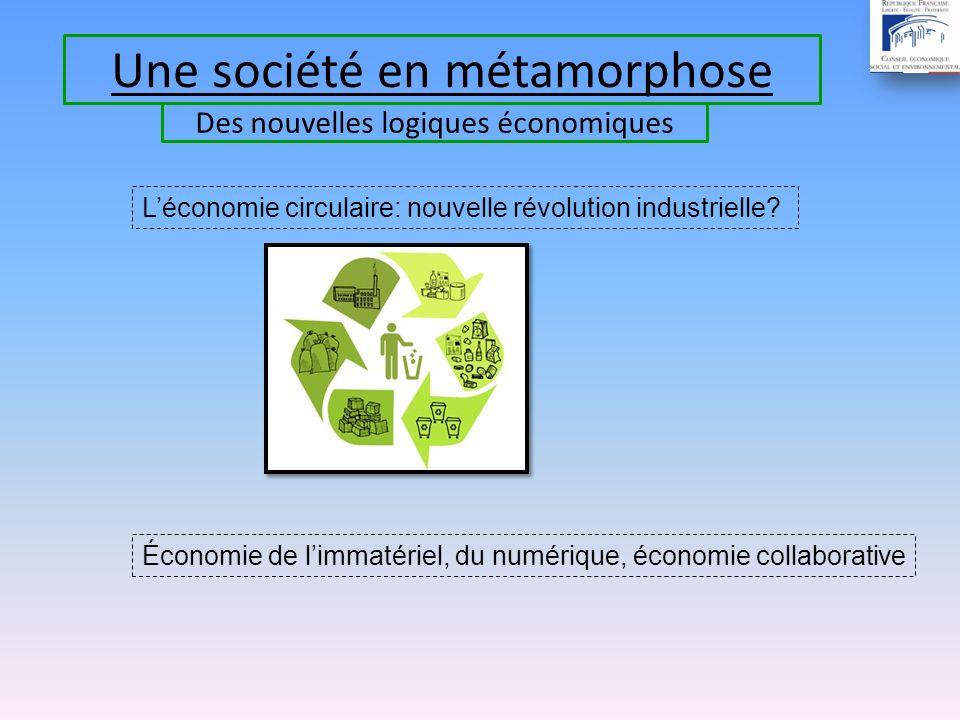 Une société en métamorphose Léconomie circulaire: nouvelle révolution industrielle.