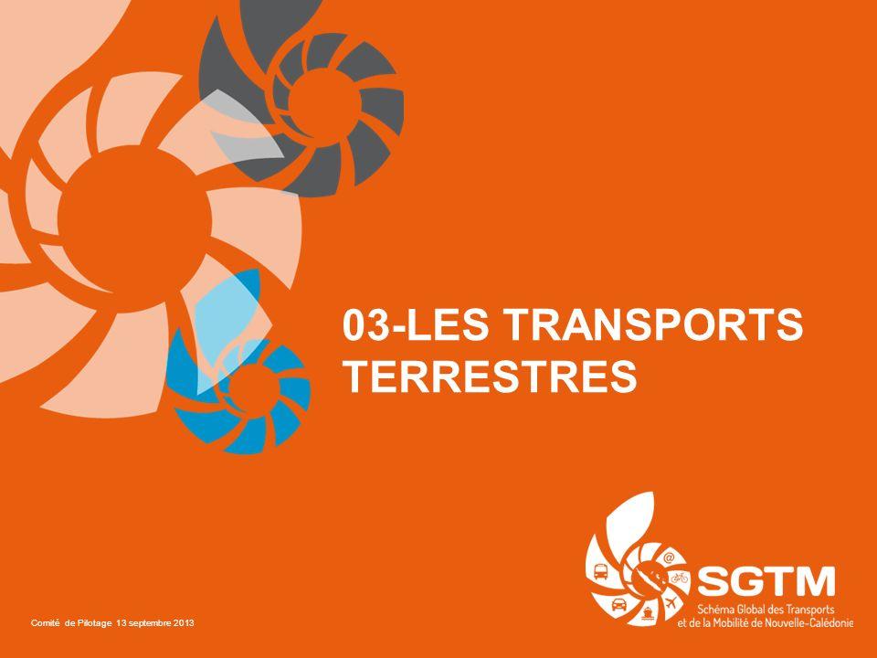 03-LES TRANSPORTS TERRESTRES Comité de Pilotage 13 septembre 2013
