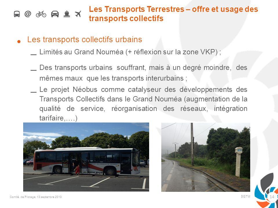 Les Transports Terrestres – offre et usage des transports collectifs Les transports collectifs urbains – Limités au Grand Nouméa (+ réflexion sur la z
