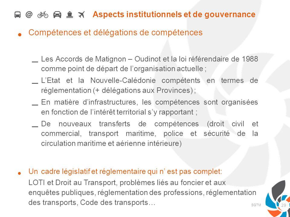 Aspects institutionnels et de gouvernance Compétences et délégations de compétences – Les Accords de Matignon – Oudinot et la loi référendaire de 1988