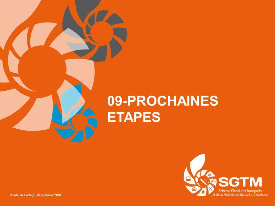 09-PROCHAINES ETAPES Comité de Pilotage 13 septembre 2013
