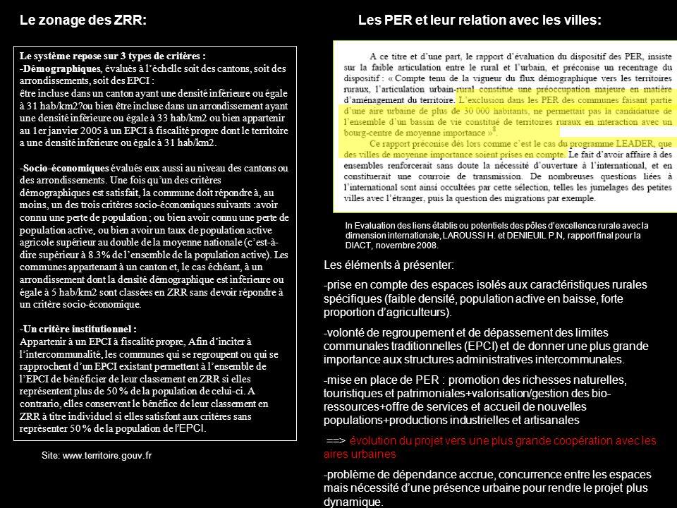 In Evaluation des liens établis ou potentiels des pôles dexcellence rurale avec la dimension internationale, LAROUSSI H. et DENIEUIL P.N, rapport fina