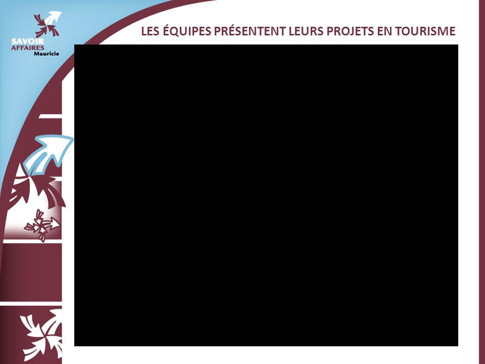 LES ÉQUIPES PRÉSENTENT LEURS PROJETS EN TOURISME