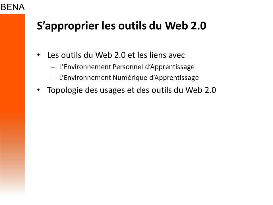 Sapproprier les outils du Web 2.0 Les outils du Web 2.0 et les liens avec – LEnvironnement Personnel dApprentissage – LEnvironnement Numérique dAppren