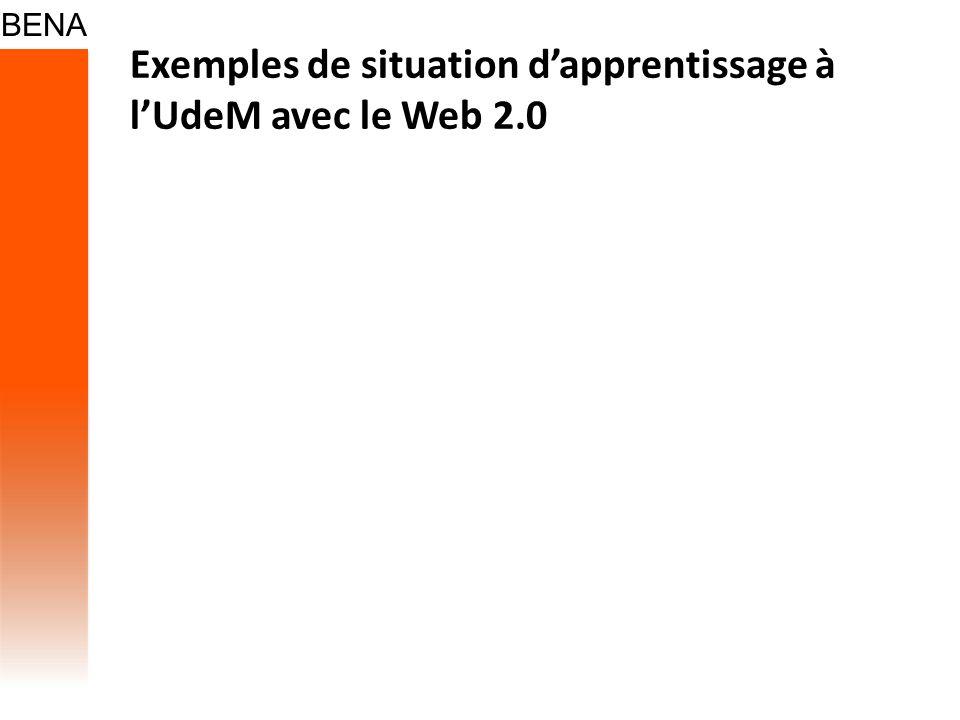 Exemples de situation dapprentissage à lUdeM avec le Web 2.0