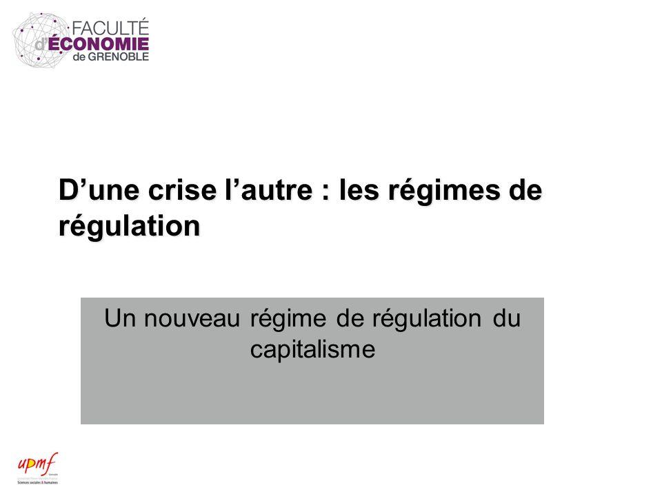 Dune crise lautre : les régimes de régulation Un nouveau régime de régulation du capitalisme