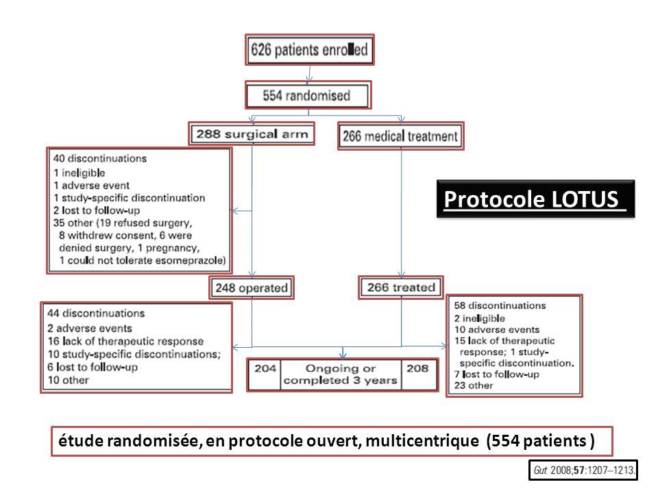 Protocole LOTUS étude randomisée, en protocole ouvert, multicentrique (554 patients )