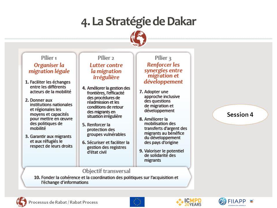 Processus de Rabat / Rabat Process RENFORCER LA PRISE DE DÉCISIONS POLITIQUES SUR LA BASE DE DONNÉES MIGRATOIRES PROBANTES THÈME TRANSVERSAL DE LA TROISIÈME PHASE DU PROCESSUS (2013-2015) CADRE DE LOBJECTIF 10 DE LA STRATEGIE DE DAKAR III.La logique de la réunion