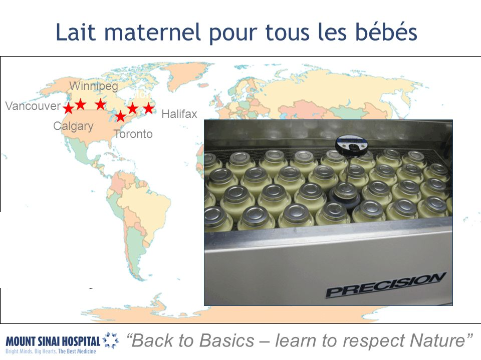 Toronto Halifax Vancouver Winnipeg Montreal Back to Basics – learn to respect Nature Lait maternel pour tous les bébés Calgary