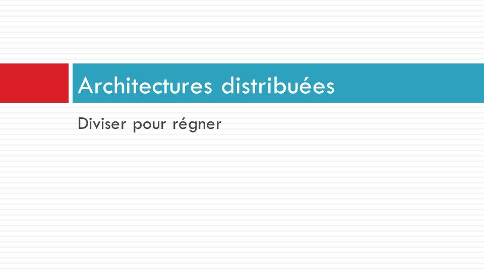 Diviser pour régner Architectures distribuées