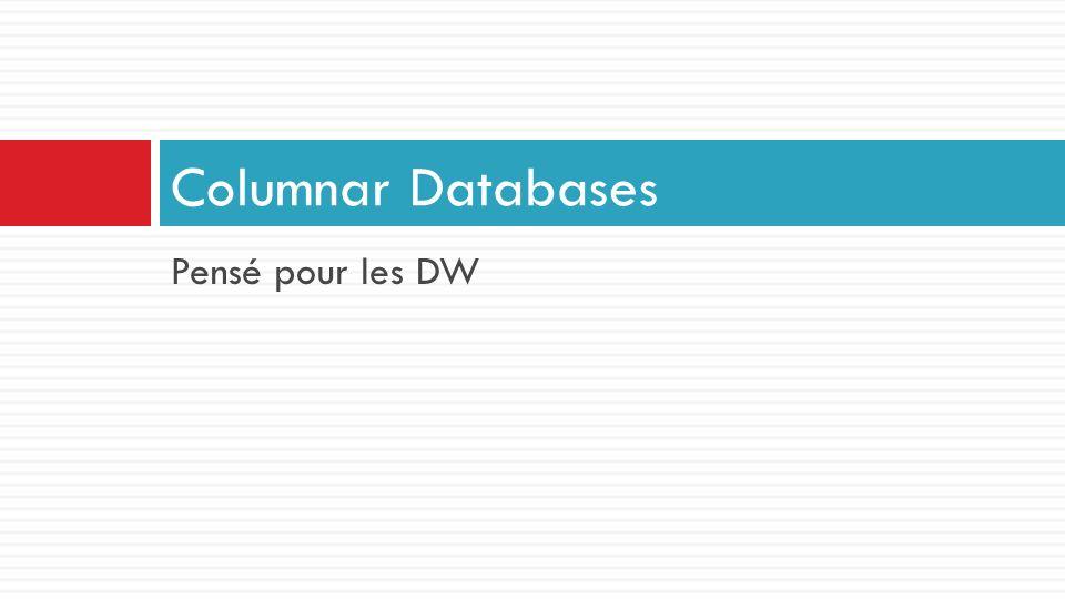 Pensé pour les DW Columnar Databases