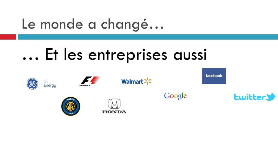 Le monde a changé… … Et les entreprises aussi
